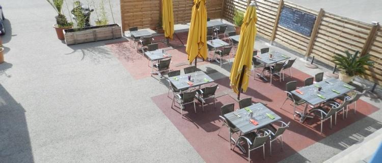 Terrasse de notre restaurant à la ciotat